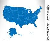 usa map | Shutterstock .eps vector #599540009