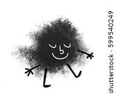 cute face made with abstract...   Shutterstock . vector #599540249
