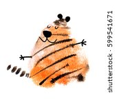 tiger made with abstract... | Shutterstock . vector #599541671