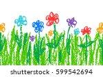 wax crayon like kid s hand...   Shutterstock .eps vector #599542694