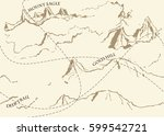 aged fantasy vintage pattern... | Shutterstock .eps vector #599542721