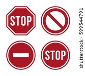 stop sign icon   Shutterstock .eps vector #599544791