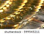 finance background with money... | Shutterstock . vector #599545211