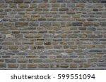 ancient old dark regular stone...   Shutterstock . vector #599551094