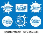 vector milk product logo. milk  ... | Shutterstock .eps vector #599552831