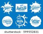 vector milk product logo | Shutterstock .eps vector #599552831