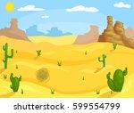 western desert landscape | Shutterstock .eps vector #599554799
