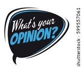 what's your opinion retro... | Shutterstock .eps vector #599557061