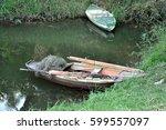 old boat | Shutterstock . vector #599557097