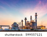 power plant for industrial... | Shutterstock . vector #599557121
