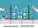 medical laboratory. research ... | Shutterstock .eps vector #599559794