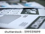 contract documents on the desk... | Shutterstock . vector #599559899