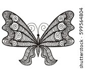 beautiful butterfly. vector...   Shutterstock .eps vector #599564804