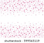 heart pattern. pink heart  | Shutterstock .eps vector #599565119