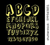 graphic font for your design.... | Shutterstock .eps vector #599565851