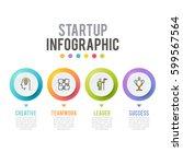 vector infographic  number... | Shutterstock .eps vector #599567564