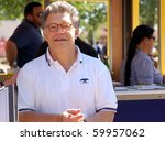 ST. PAUL - AUGUST 28:  U.S. Senator Al Franken greeting constituents at the Minnesota State Fair on August 28, 2010 in St. Paul. - stock photo
