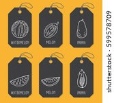 set of tags or label templates... | Shutterstock .eps vector #599578709