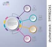 modern infographics diagram for ... | Shutterstock .eps vector #599582261