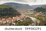 veliko tarnovo scene city... | Shutterstock . vector #599582291