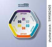 modern paper infographics... | Shutterstock .eps vector #599582405