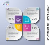 modern infographics diagram for ... | Shutterstock .eps vector #599582534