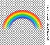 rainbow transparent arch vector ... | Shutterstock .eps vector #599584751