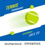 tennis championship or... | Shutterstock .eps vector #599589545
