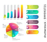 colorful infographic element ... | Shutterstock .eps vector #599593721