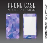 case for mobile phone with... | Shutterstock .eps vector #599594069