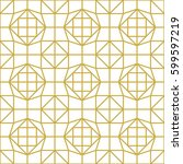 art deco seamless background. | Shutterstock .eps vector #599597219