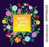 spring template. spring... | Shutterstock .eps vector #599598335