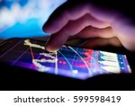a businessman checking stock... | Shutterstock . vector #599598419