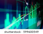 financial  illustrated  data... | Shutterstock . vector #599600549