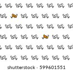 little mice seamless black and... | Shutterstock .eps vector #599601551