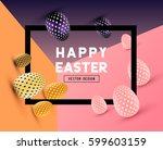 an abstract easter design with... | Shutterstock .eps vector #599603159