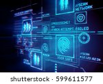 digital security and data... | Shutterstock . vector #599611577