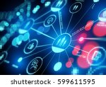 connected interests. a closely... | Shutterstock . vector #599611595