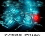 digital security and data... | Shutterstock . vector #599611607
