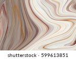 marble ink colorful. brown... | Shutterstock . vector #599613851