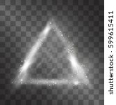 light effect  silver triangle... | Shutterstock .eps vector #599615411