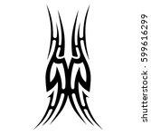 vector tribal tattoo designs.... | Shutterstock .eps vector #599616299