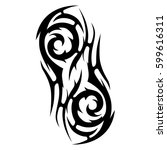 tattoo tribal vector designs... | Shutterstock .eps vector #599616311