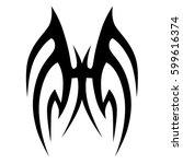 tattoo tribal vector designs... | Shutterstock .eps vector #599616374