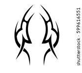 tribal designs. tribal tattoos. ... | Shutterstock .eps vector #599616551