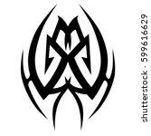 vector tribal tattoo designs.... | Shutterstock .eps vector #599616629