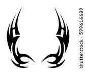 tattoo tribal wings designs....   Shutterstock .eps vector #599616689