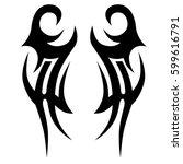 tribal designs. tribal tattoos. ...   Shutterstock .eps vector #599616791