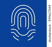 icon fingerprint | Shutterstock .eps vector #599617049
