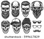 Set Of Different Skull...
